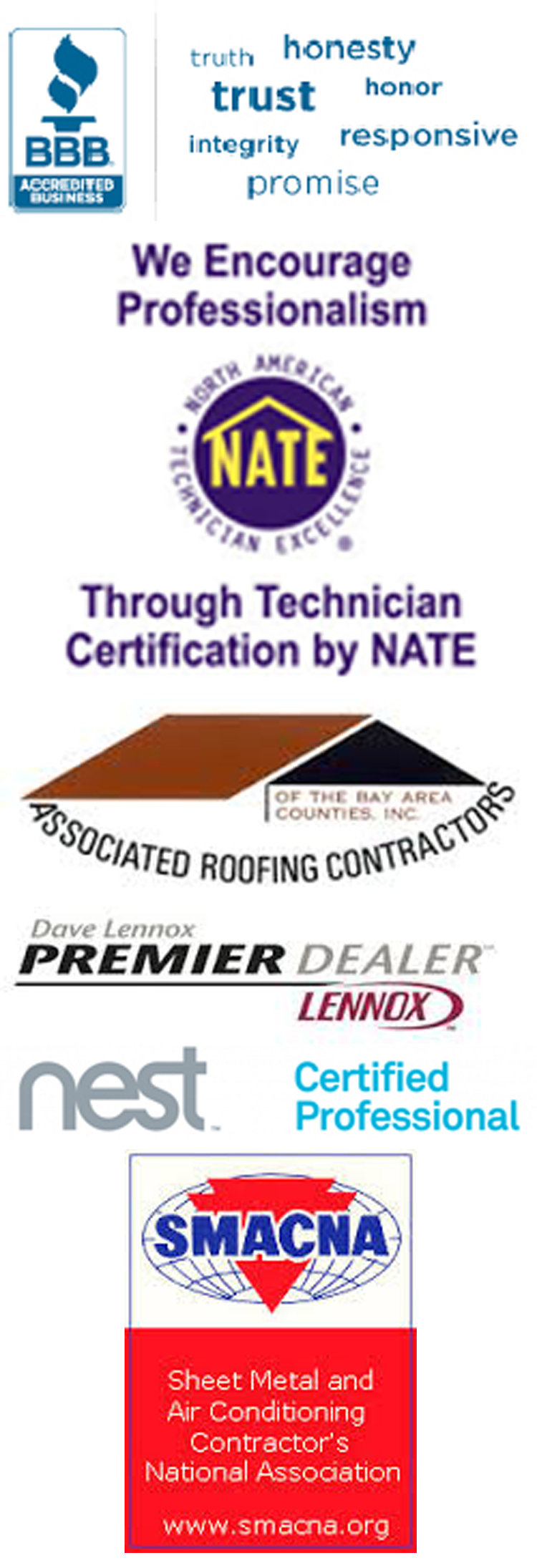 Our credentials izmirian roofing and sheet metal credentials750px 1betcityfo Choice Image